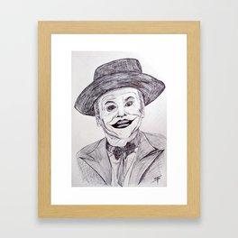Jack Nicholson's Joker Framed Art Print
