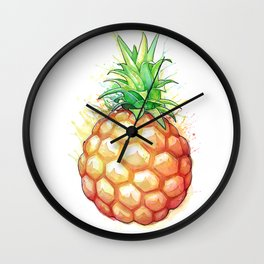 Fat Pineapple 1 Wall Clock