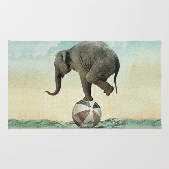 Elephant at Sea Rug
