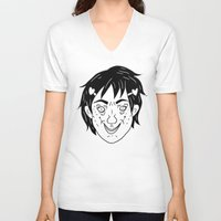 budi satria kwan V-neck T-shirts featuring Photogenic: Ren Kwan by Gin and Cats