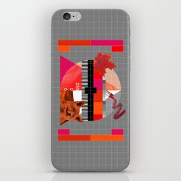 Waiting for the show to begin (Test Pattern 6) iPhone Skin