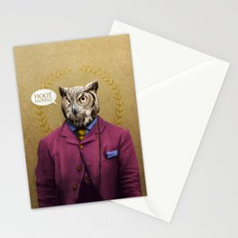 """Mr. Owl says: """"HOOT Happens!"""" Stationery Cards"""
