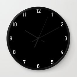 Numbers Clock - Black Wall Clock