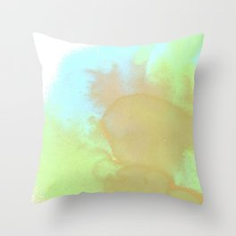 Blue Pansy Abstract Floral Flower Throw Pillow