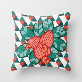 Geometric Cashew Pattern 1 Throw Pillow