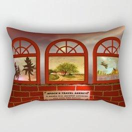 trip to space, anyone? Rectangular Pillow
