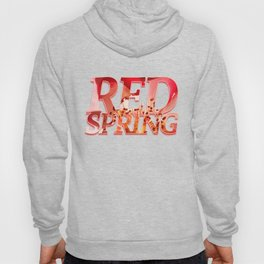Pomagranate Red Spring Blossom Hoody