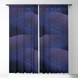 Ultraviolet Cosmos Blackout Curtain