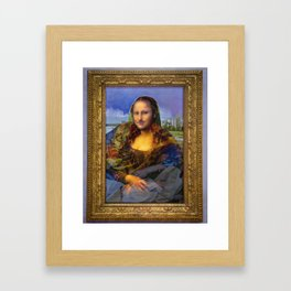 Mona (Kevin) Lisa : Satire + Contemporary Fine Art Framed Art Print