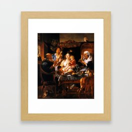 As the Old Sang, So the young Pipe - Jacob Jordaens Framed Art Print
