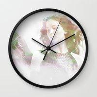 katniss Wall Clocks featuring Katniss Everdeen  by NKlein Design