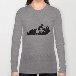 Kentucky Thoroughbred Racing Horse Lover Black Long Sleeve T-shirt