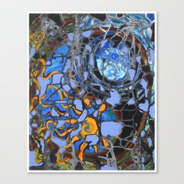 Cosmic Yin Yang Canvas Print