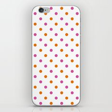 Fun Dots pink orange iPhone & iPod Skin