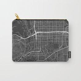 Pasadena Map, USA - Gray Carry-All Pouch