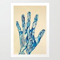 indigo Art Prints featuring Indigo by Nieves