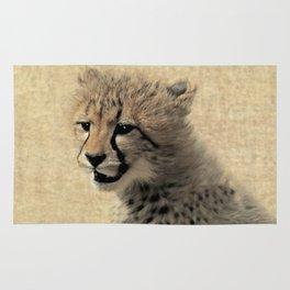 Cheetah cub Rug