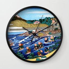 Mt,FUJI36view-Tokaido Kanaya Fuji - Katsushika Hokusai Wall Clock