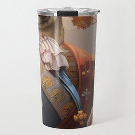 Royal Shiba Dog Portrait Travel Mug