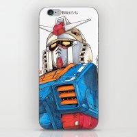 gundam iPhone & iPod Skins featuring Gundam by Sheharzad