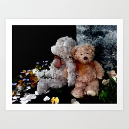 Teddy Bear Buddies Art Print