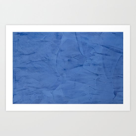 Light Blue Stucco Art Print
