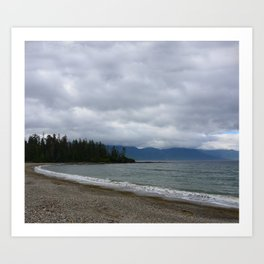 Low Clouds over the Bay Art Print