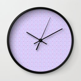 Virgo Small Abstract Lavender Purple Zodiac Print Wall Clock