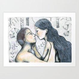 lovers 2 Art Print