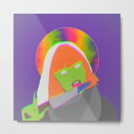 Neon Queen of Halloween Metal Print