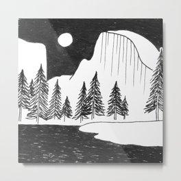 Half Dome Yosemite Metal Print