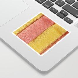 Yellow Peach Colored Bubble Gum Sticker
