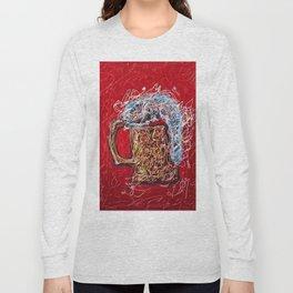 Abstract Beer - Inspired By Pollock  #society6 #wallart #buyart by Lena Owens @OLena Art Long Sleeve T-shirt