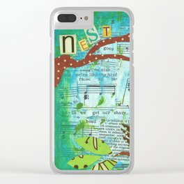 Nest and Sing Clear iPhone Case