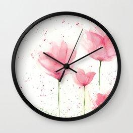 Watercolor Flowers Wall Clock