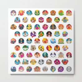 Street Fighters Metal Print