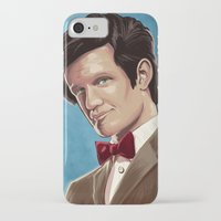 dr who iPhone & iPod Cases featuring Dr Who by MODBLOT: Art of Dan Marek
