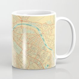 Dresden Map Retro Coffee Mug