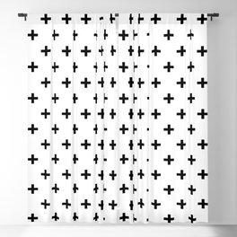 Black Swiss Cross Blackout Curtain