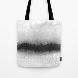 Black and White Horizon Tote Bag