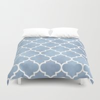 morocco Duvet Covers featuring MOROCCO - SLATE by pike design