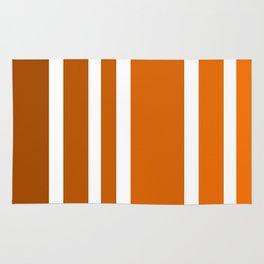 Striped Ombre in Orange Rug