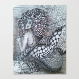 Guardian mermaid Canvas Print