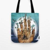 stargate Tote Bags featuring Stargate by Sandra Dieckmann