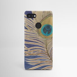 ink peacock feather Android Case
