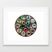 magic the gathering Framed Art Prints featuring Magic the Gathering - Stained Glass by omgitsmagic