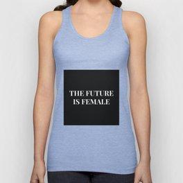 The future is female black-white Unisex Tank Top