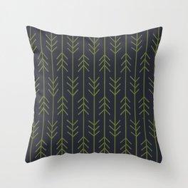 Arrows - Green/Navy Throw Pillow