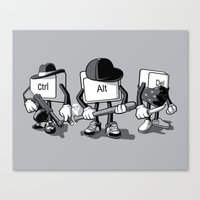 computer Canvas Prints featuring Computer Mafia by MEKAZOO