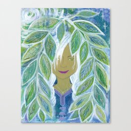 Asha's Leaves Canvas Print